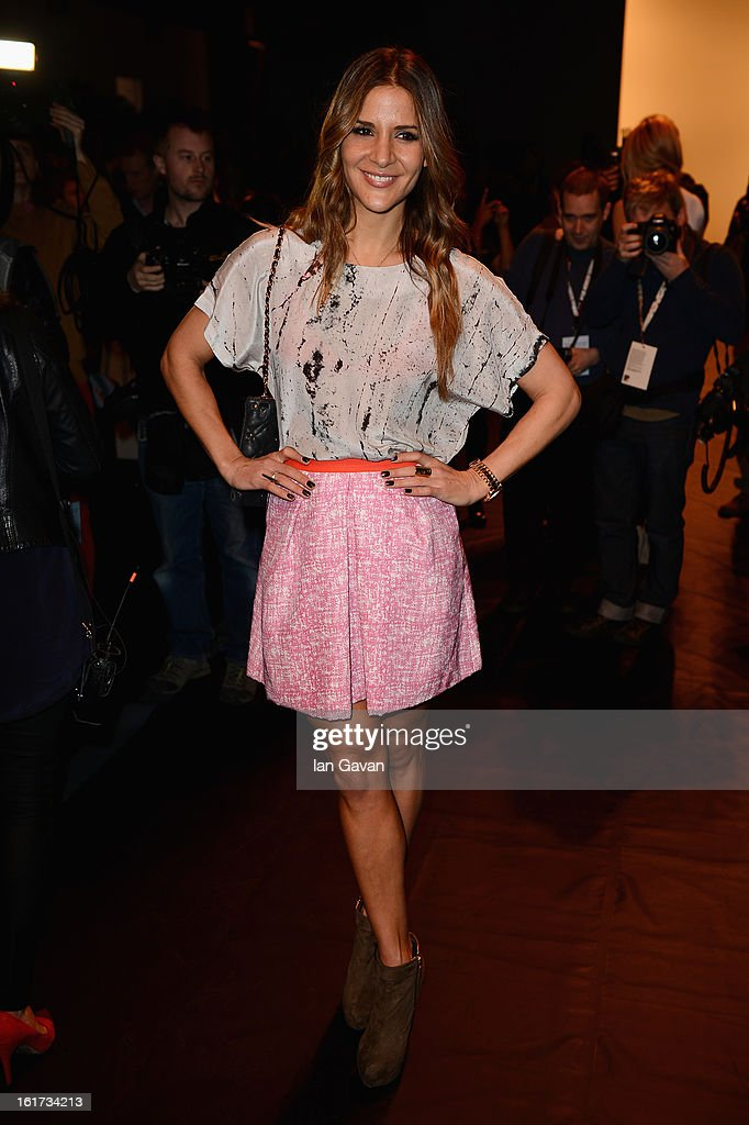 Amanda Byram attends the Zoe Jordan show during London Fashion Week Fall/Winter 2013/14 at Somerset House on February 15, 2013 in London, England.
