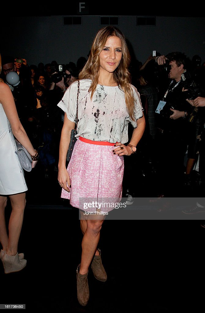 Amanda Byram attends the Zoe Jordan show during London Fashion Week Fall/Winter 2013/14>> at Somerset House on February 15, 2013 in London, England.