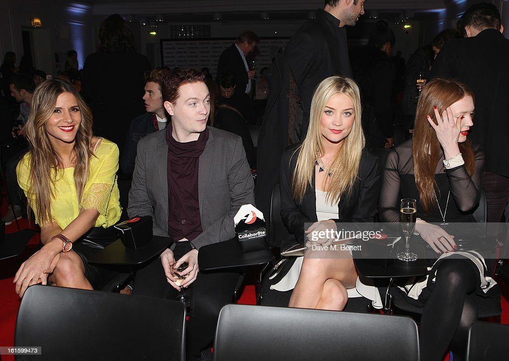 Amanda Byram, guest, Laura Whitmore and Olivia Hallinan attends the Collabor8te Connected by NOKIA Premiere at Regent Street Cinema on February 12, 2013 in London, England.
