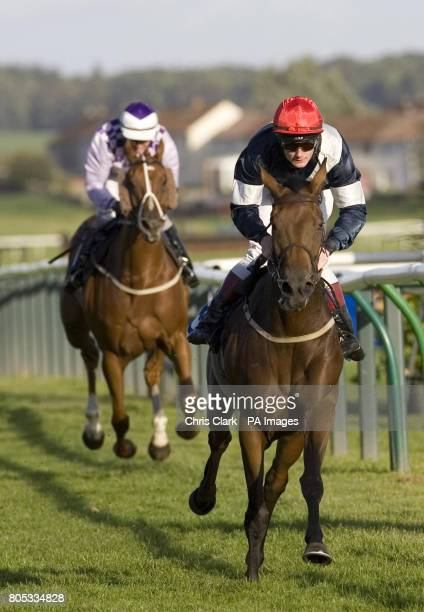 Amanda Carter ridden by Frederik Tylicki wins the Sked Construction Concrete's What We Do Handicap race during the Gold Cup Festival at Ayr...