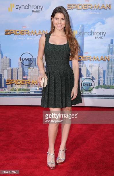 Amanda Cerny arrives at the Los Angeles Premiere 'SpiderMan Homecoming' at TCL Chinese Theatre on June 28 2017 in Hollywood California