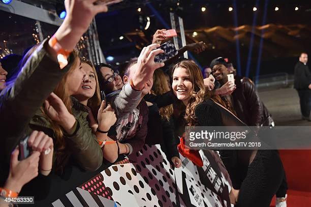 Amanda Cerny attends the MTV EMA's 2015 at the Mediolanum Forum on October 25 2015 in Milan Italy