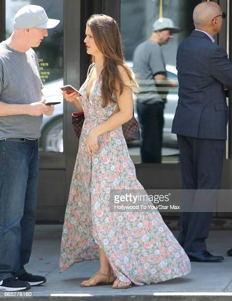 Amanda Cerny is seen on April 5 2017 in Los Angeles CA
