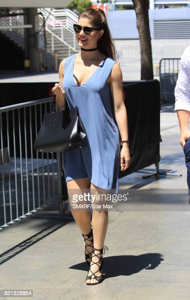 Amanda Cerny is seen on August 13 2017 in Los Angeles California