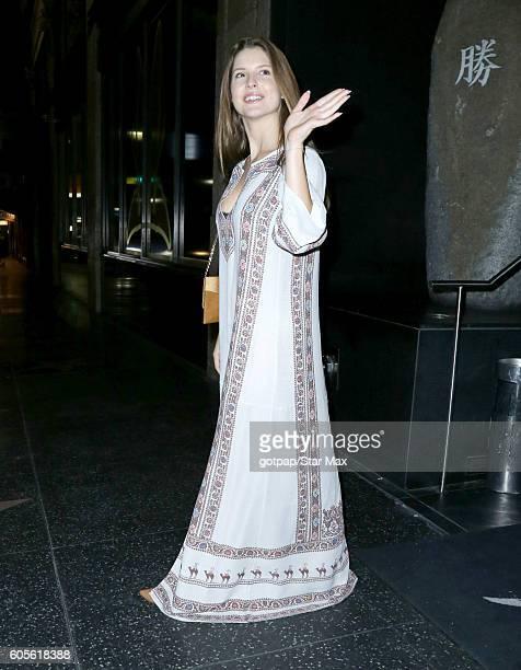 Amanda Cerny is seen on September 13 2016 at Katsuya Restaurant in Los Angeles California