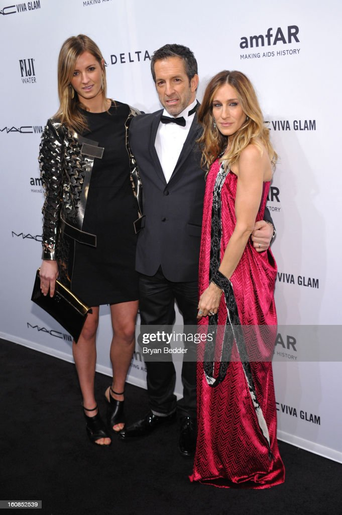 Amanda Cole, designer Kenneth Cole, and actress Sarah Jessica Parker attend the amfAR New York Gala to kick off Fall 2013 Fashion Week at Cipriani Wall Street on February 6, 2013 in New York City.