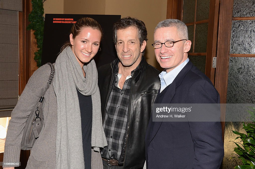 Amanda Cole, fashion designer Kenneth Cole and Gov. Jim McGreevey attend the 'Fall To Grace' and 'The Battle Of AMFAR' Brunch hosted by HBO on January 18, 2013 in Park City, Utah.