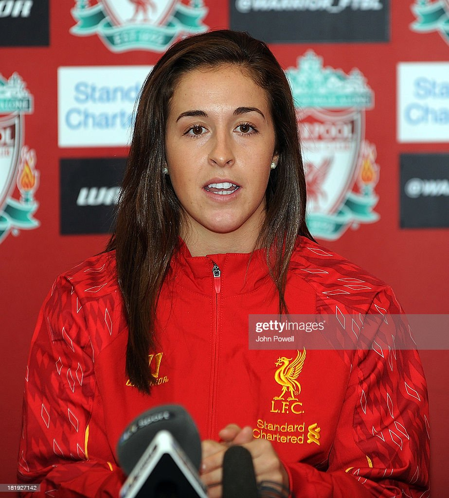 Amanda DaCosta Liverpool FC Ladies Player appears at a Press Conference at Melwood Training Ground on September 26, 2013 in Liverpool, England.