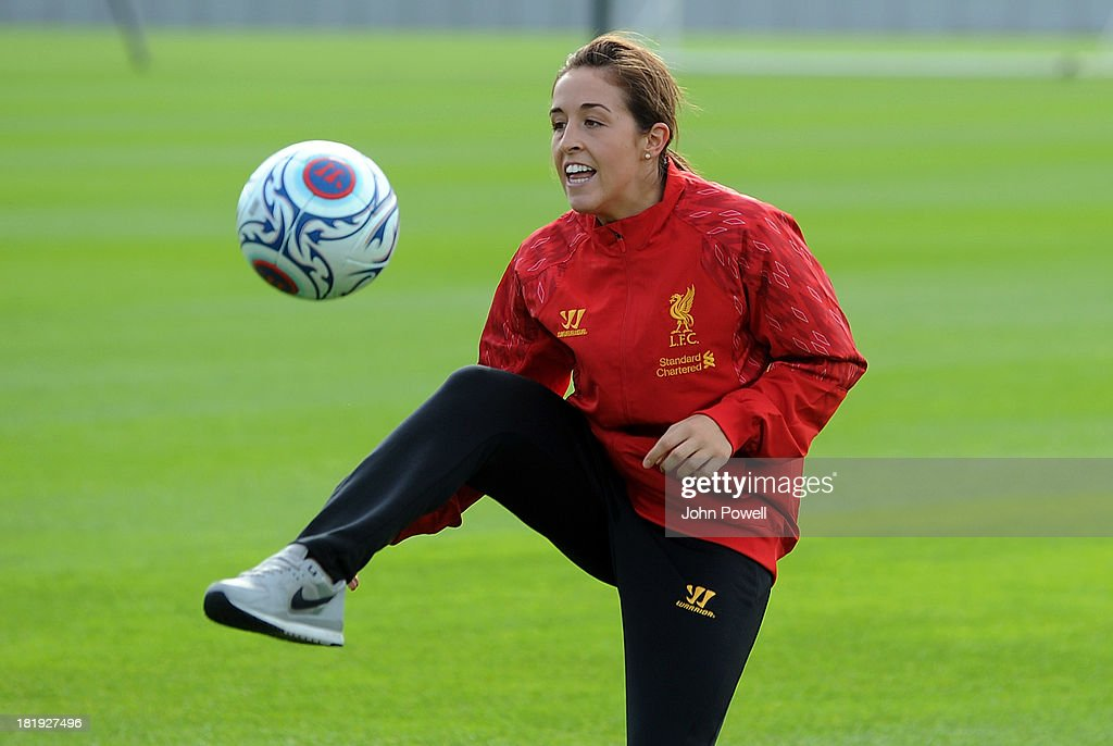 Amanda DaCosta of Liverpool FC Ladies attends a training sesssion at Melwood Training Ground on September 26, 2013 in Liverpool, England.