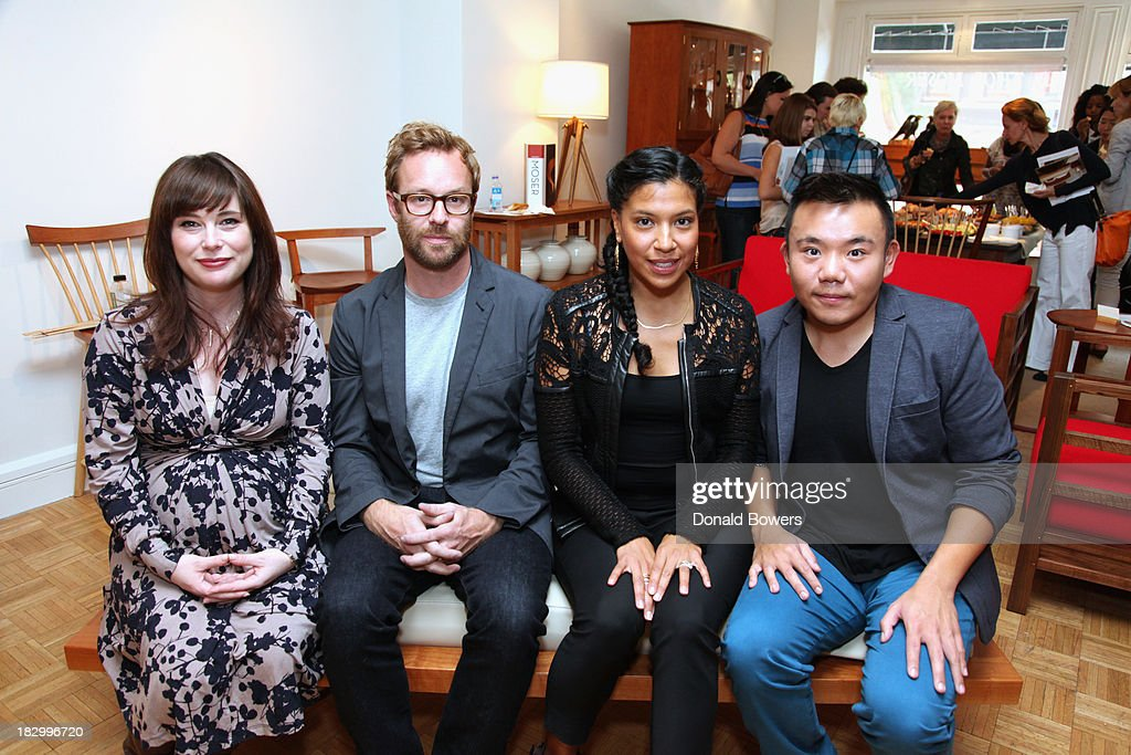 Amanda Dameron, Adam Rogers, Fahmida Lam and Willy Chan attend The CITY MODERN Presented By New York And Dwell Magazines Host The Apprentice: Furniture Making With Thos. Moser at Thos. Moser on October 2, 2013 in New York City.