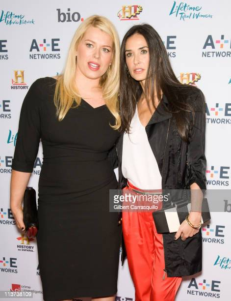 Amanda de Cadenet and Demi Moore attend the AE Television Networks 2011 Upfront presentation at the IAC Building on May 4 2011 in New York City