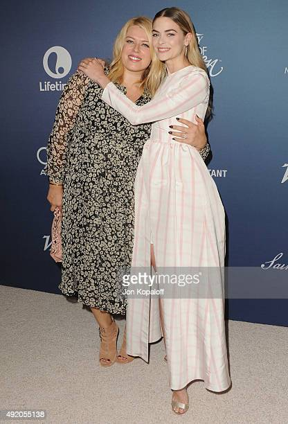 Amanda de Cadenet and Jaime King arrive at Variety's Power Of Women Luncheon at the Beverly Wilshire Four Seasons Hotel on October 9 2015 in Beverly...