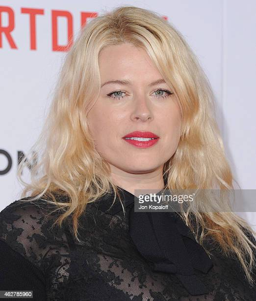 Amanda de Cadenet arrives at the Los Angeles Premiere Of 'Mortdecai' at TCL Chinese Theatre on January 21 2015 in Hollywood California