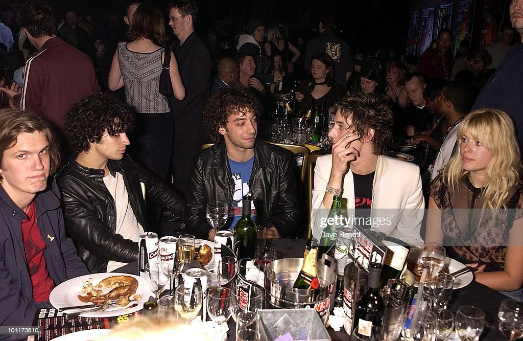 Amanda De Cadenet With Nick Valensi & The Strokes, Nme Carling Awards 2002, In Shoreditch, London