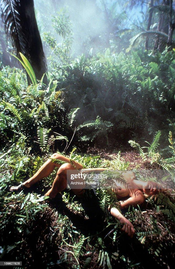 Amanda Donohoe Lies On The Jungle Floor In A Scene From The Film U0027Castawayu0027