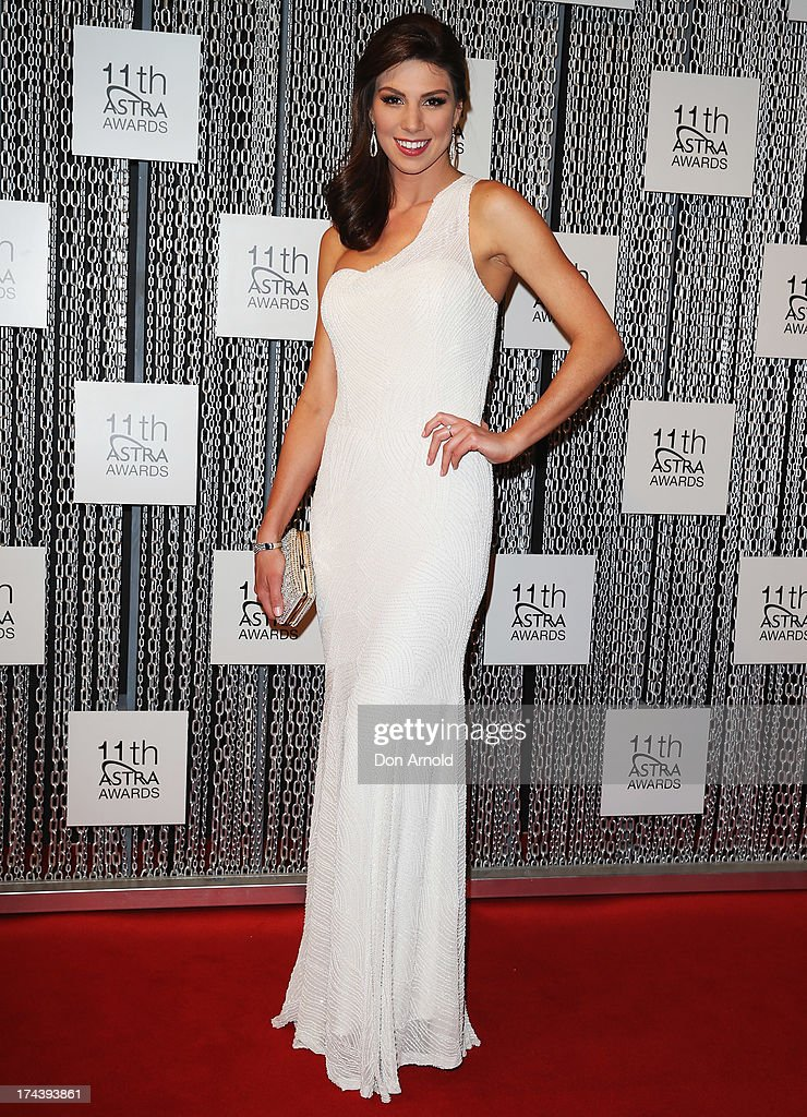 Amanda Duval arrives at the 11th Annual ASTRA Awards at Sydney Theatre on July 25, 2013 in Sydney, Australia.