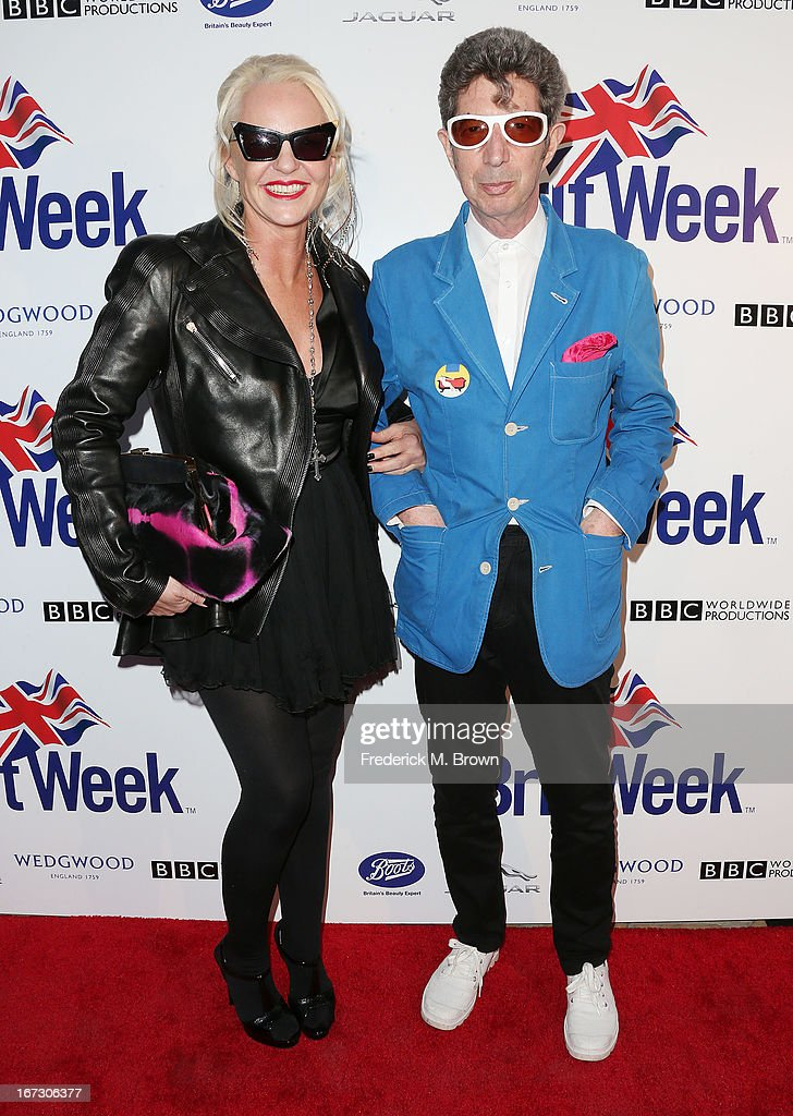 Amanda Eliasch (L) and Duggie Fields attend the launch of the Seventh Annual Britweek Festival 'A Salute to Old Hollywood' on April 23, 2013 in Los Angeles, California.