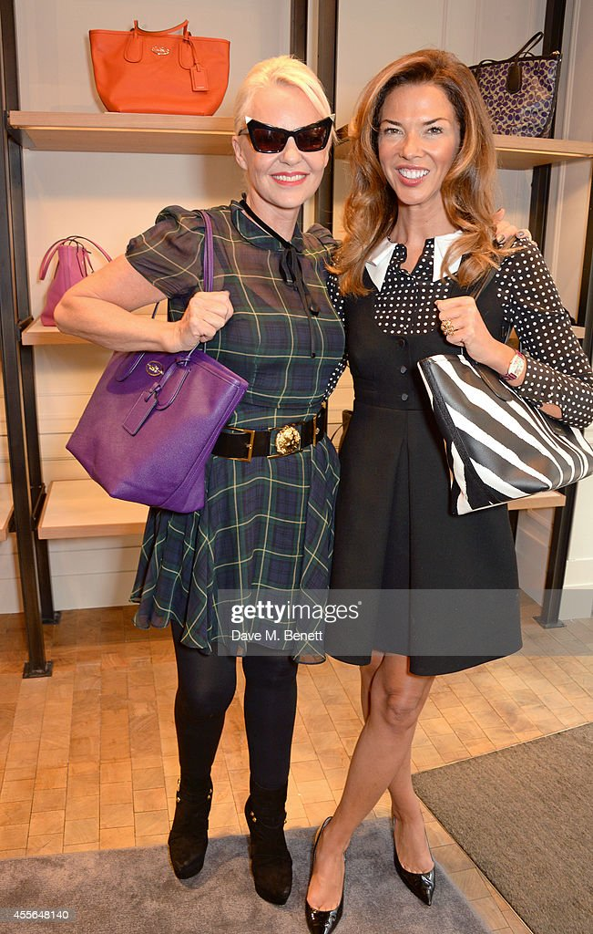 Amanda Eliasch and Heather Kerzner attend the Coach Fall 2014 Collection Launch at their New Bond Street store on September 18 2014 in London England