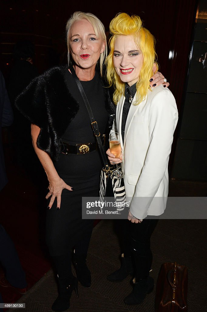 Amanda Eliasch and Pam Hogg attend the Liberatum Cultural Honour for Francis Ford Coppola at The Bulgari Hotel on November 17 2014 in London England