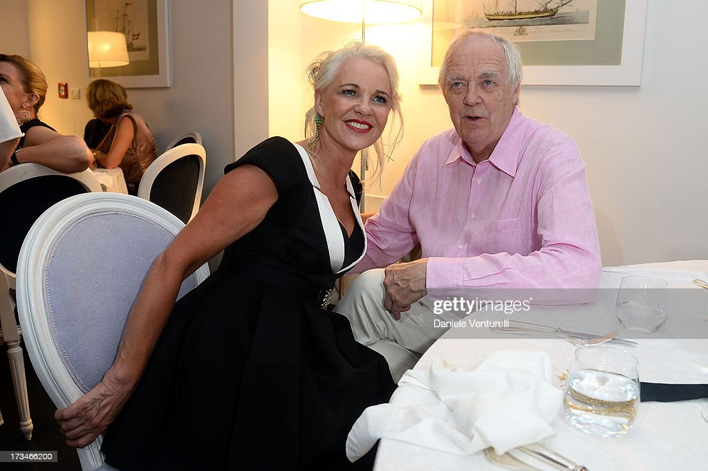 Amanda Eliasch and Sir Tim Rice attend Day 2 of the 2013 Ischia Global Fest on July 14, 2013 in Ischia, Italy.