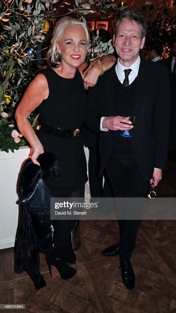 Amanda Eliasch and Tim Willis attend the 35th Birthday of Harry's Bar on September 19 2014 in London England