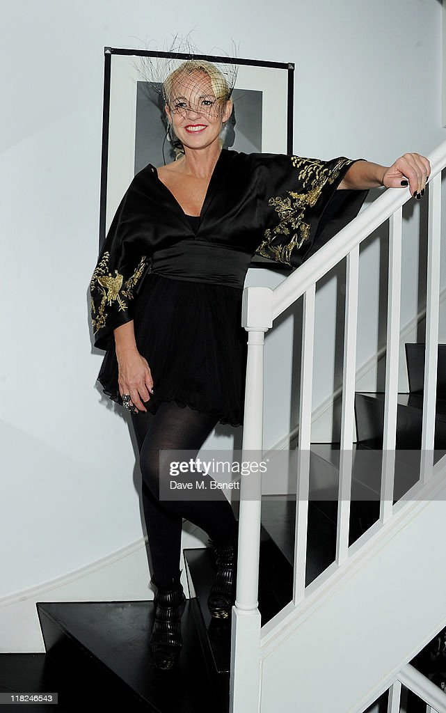 Amanda Eliasch attends an after party celebrating press night of Amanda Eliasch and Lyall Watson's 'As I Like It' playing at Chelsea Theatre on July...