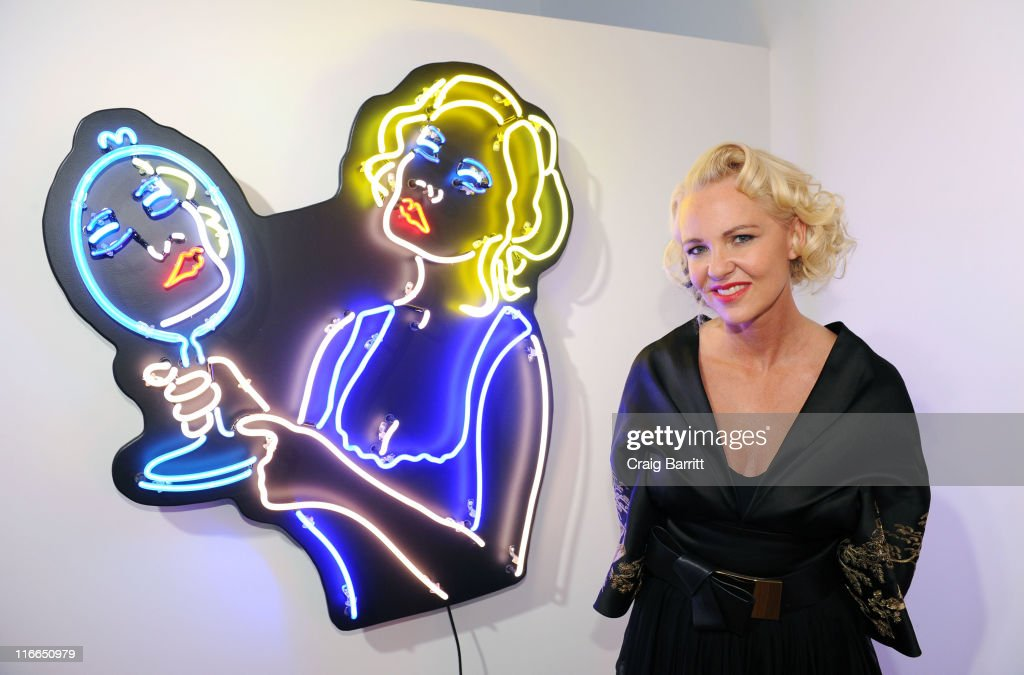 Amanda Eliasch attends Peccadilloes An Exhibition Of Seven Neons By Amanda Eliasch at Leadapron on June 16 2011 in Los Angeles California