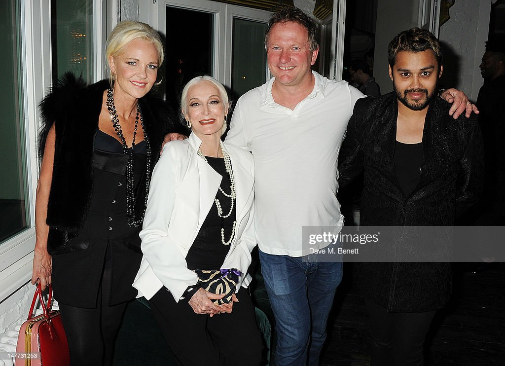 Amanda Eliasch Carmen Dell'Orefice Nick Jones owner of Soho House and Pablo Ganguli attends the Grey Goose Cocktail Reception at Liberatum Berlin...