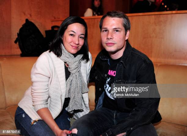 Amanda Fairey and Shepard Fairey attend NOWNESS Presents the New York Premiere of JeanMichel Basquiat The Radiant Child at MoMa on April 27 2010 in...