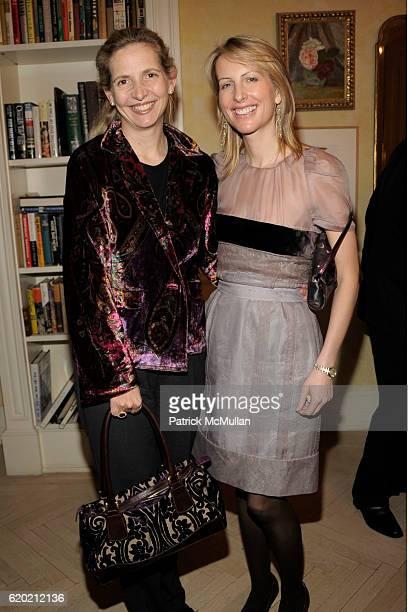 Amanda Foreman and Vicky Ward attend TINA BROWN VICKY WARD and LA MER host a party honoring SUSAN NAGEL'S new book 'Marie Therese' at Tina Brown and...