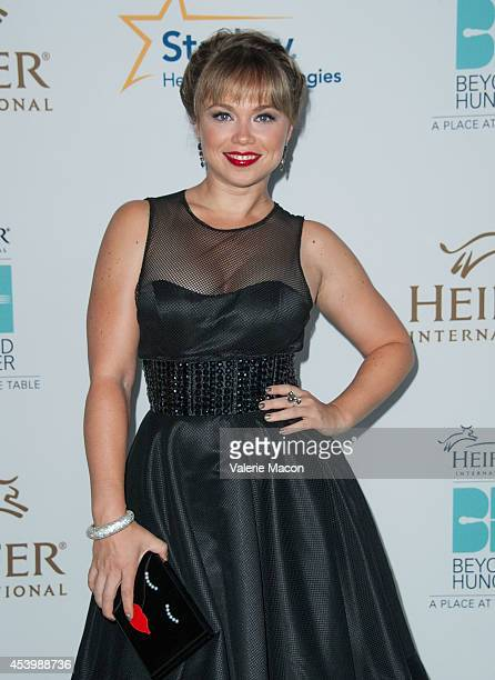 Amanda Fuller arrives at the Heifer International's 3rd Annual 'Beyond Hunger A Place At The Table' Gala at Montage Beverly Hills on August 22 2014...