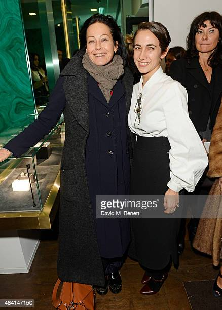 Amanda Harlech and Delfina Delettrez attend the Delfina Delettrez London Boutique Opening during London Fashion Week Fall/Winter 2015/16 on February...