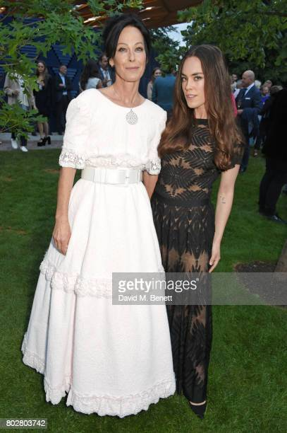 Amanda Harlech and Tallulah Harlech attend The Serpentine Galleries Summer Party cohosted by Chanel at The Serpentine Gallery on June 28 2017 in...