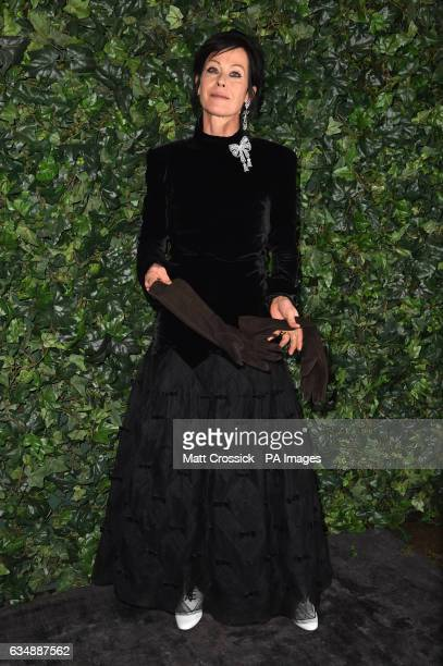 Amanda Harlech attending the Charles Finch and Chanel hosted preBAFTA party at Annabel's in London