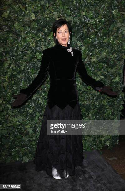 Amanda Harlech attends a pre BAFTA party hosted by Charles Finch and Chanel at Annabel's on February 11 2017 in London England
