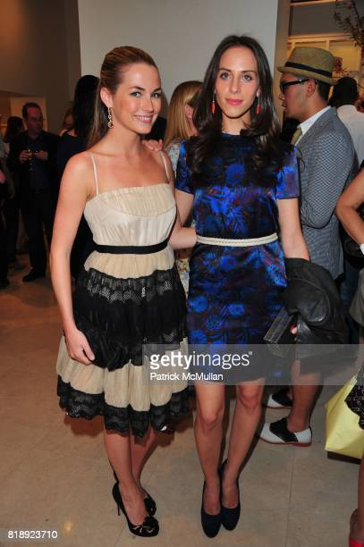 Amanda Hearst and Dalia Oberlander attend VALENTINO hosts Carlos Mota book launch 'Flowers Chic and Cheap' at Valentino on May 4 2010 in New York City