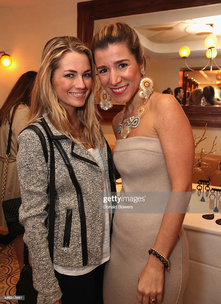 Amanda Hearst and Fernanda Capobianco attend Fernanda Capobianco and Amanda Hearst's reception to unveil cruelty-free accessory line, The New Yorker Collection at FP Patisserie on April 23, 2014 in New York City.