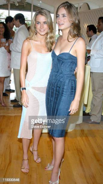 Amanda Hearst and Lauren Bush during Hamptons Magazine Celebrates the Covers Featuring Elite Models Lauren Bush and Amanda Hearst at Bridgehampton...
