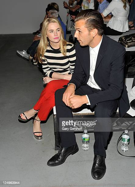Amanda Hearst and singer Theo Hutchcraft attend the 31 Phillip Lim Spring 2012 fashion show during MercedesBenz Fashion Week at St John's Center...