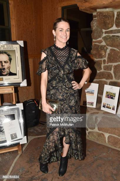 Amanda Hearst attends Hearst Castle Preservation Foundation Annual Benefit Weekend 'Hearst Ranch Patron Cowboy Cookout' at Hearst Dairy Barn on...