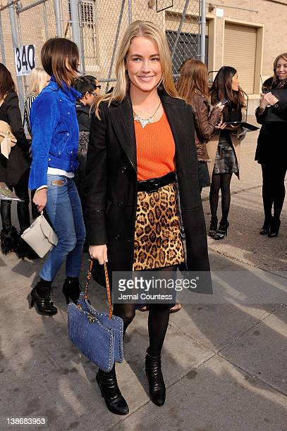 Amanda Hearst attends the Jason Wu Fall 2012 fashion show during MercedesBenz Fashion Week at St John's Center Studios on February 10 2012 in New...