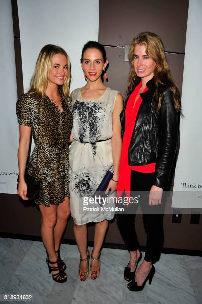 Amanda Hearst Dalia Oberlander and Meredith Dunn attend The Launch of the DBA 98 PEN at High Line Room at the Standard on May 14 2010 in New York City