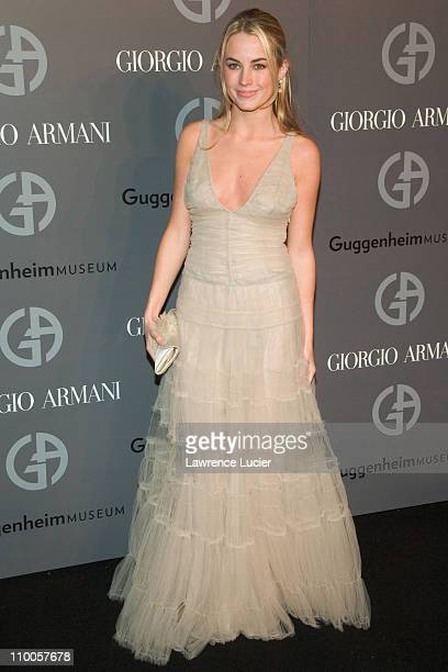 Amanda Hearst during Solomon R Guggenheim Museum's Young Collectors Council 2006 Artists Ball Sponsored By Giorgio Armani at Solomon R Guggenheim...