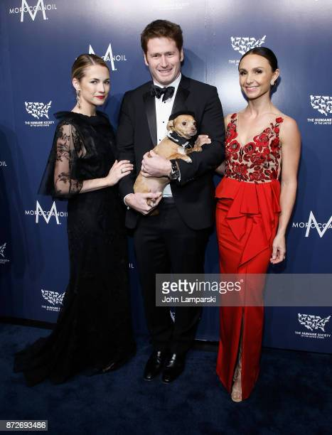 Amanda Hearst Stephen Read Georgina Bloomberg and a dog named Finn attend 2017 Humane Society of The United States to the Rescue New York Gala at...