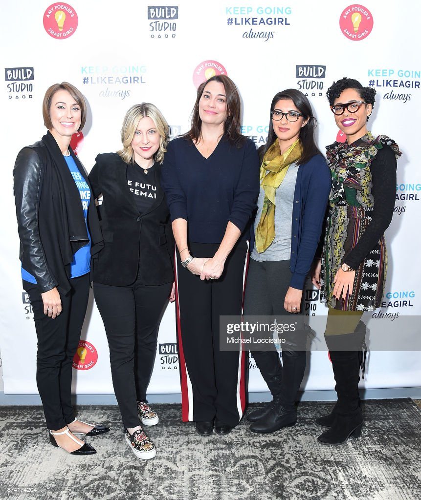 Amanda Hill, Laura Brounstein, Meredith Walker, Christina Diaz and Dr. Knatokie Ford visit Build Studio to discuss the Fueled By Failure Summit with SmartGirls on November 14, 2017 in New York City.