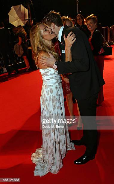 Amanda Holden and Jake Humphrey attend Battersea Dogs Cats Home's 'Collars Coats Gala Ball' at Battersea Evolution on October 30 2014 in London...