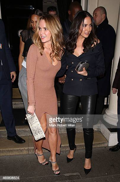 Amanda Holden and Lauren Silverman at the Arts Club on March 10 2015 in London England