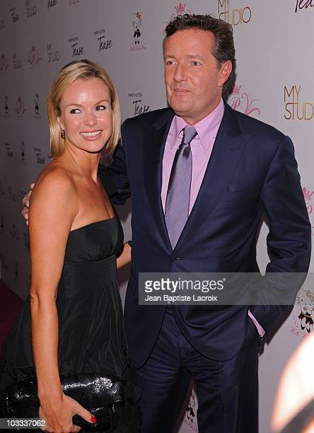 Amanda Holden and Piers Morgan attend the 'Tease' fragrance launch party at MyStudio Nightclub on August 10 2010 in Los Angeles California