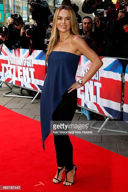 Amanda Holden arrives at the Dominion Theatre for the Britain's Got Talent London auditions on February 11 2015 in London England