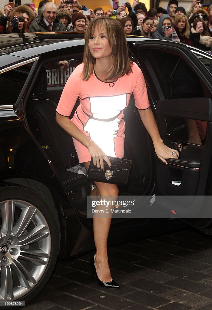 Amanda Holden arrives for auditions for Britain's Got Talent at London Palladium on January 22, 2013 in London, England.